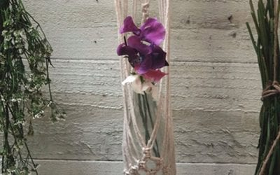 Macrame bud vase hanger workshop